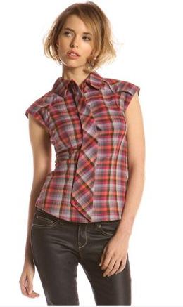 Модные женские рубашки в клетку 2010