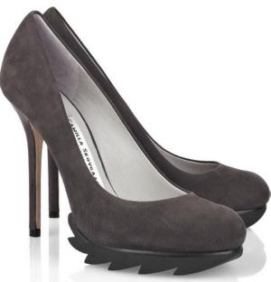 оригинальные туфли на высоком каблуке