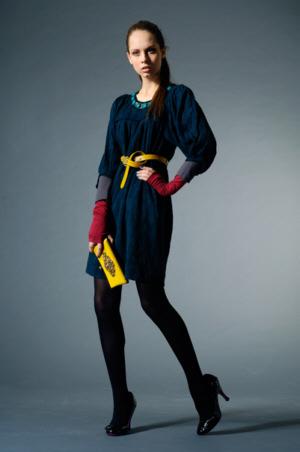 вязаное платье 2011