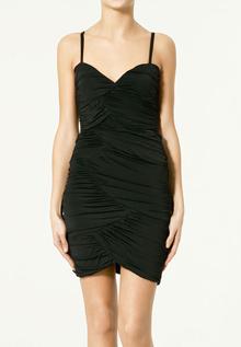 платья на новый год 2011 ZARA c драпировкой