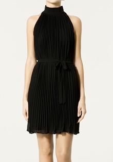 платья на новый год 2011 ZARA с плиссировкой