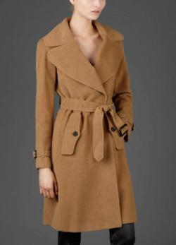 пальто burberry бежевое