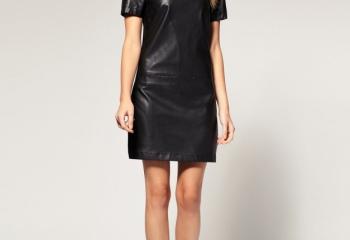 Как выбрать модное кожаное платье 2013