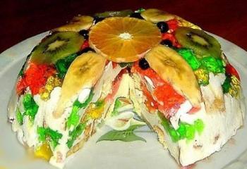 Как готовить разноцветный торт