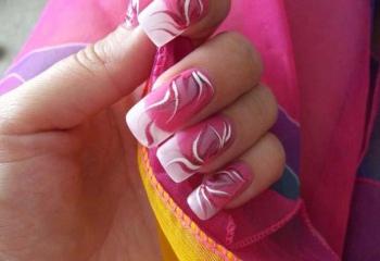 Как делать узоры на ногтях иголкой