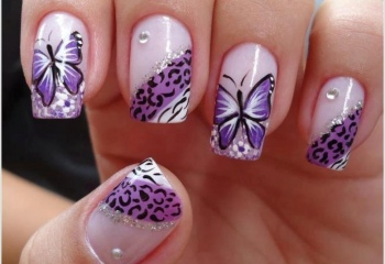 Как нарисовать бабочку на ногтях