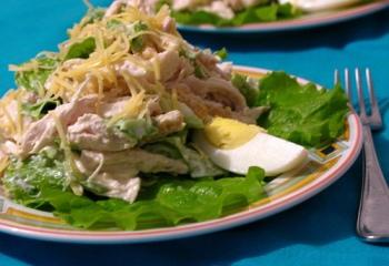 Рецепт салата из куриного филе