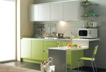 Оформление интерьера маленьких кухонь