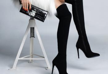 С чем носить сапоги-чулки
