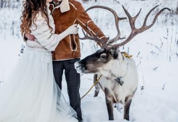 Зимняя свадебная прогулка: интересные идеи