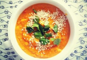 Едим с благими намерениями: тыквенно-бататовый суп