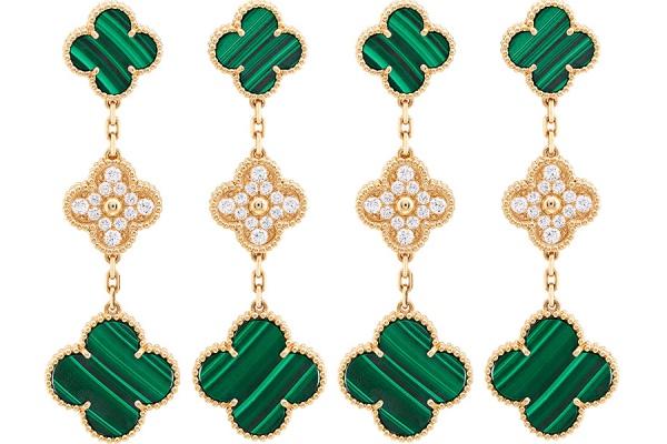 Малахитовые новинки культовой коллекции Alhambra Van Cleef & Arpels