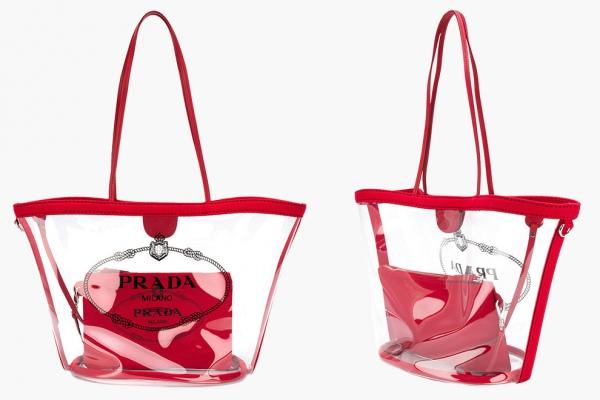 Нечего скрывать: прозрачные сумки Prada