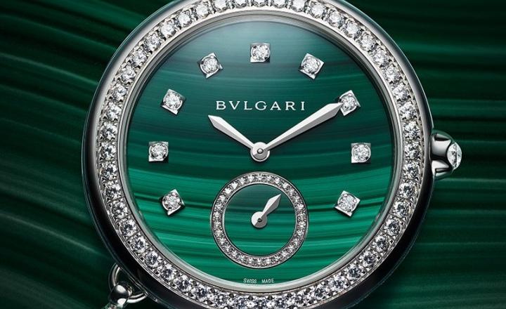 Новые часы Bvlgari с лазуритом, малахитом и павлином