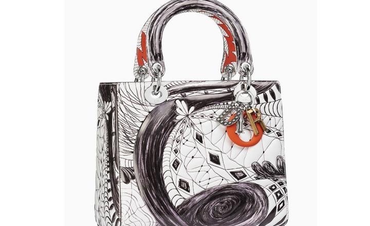 Современные художники вновь взялись за сумку Lady Dior