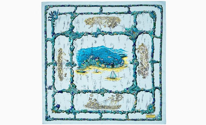 Курорты Средиземного моря на платках Emilio Pucci из коллекции Cities of the World