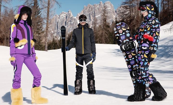 К сезону: мультяшная лыжная коллекция Fendi