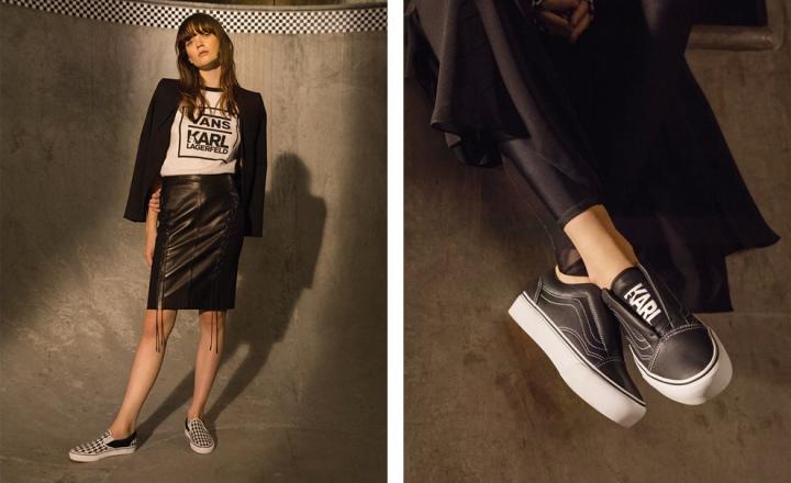Черно-белая коллекция Карла Лагерфельда для «уличного» бренда Vans