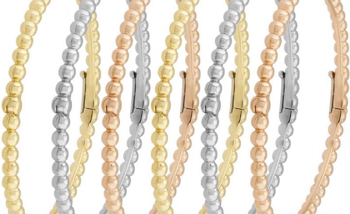 Тонкие браслеты из золотых бусин Perlée Van Cleef & Arpels