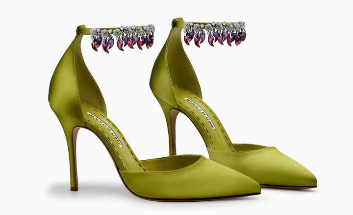 Модный апофеоз: колье Bvlgari на туфлях Manolo Blahnik