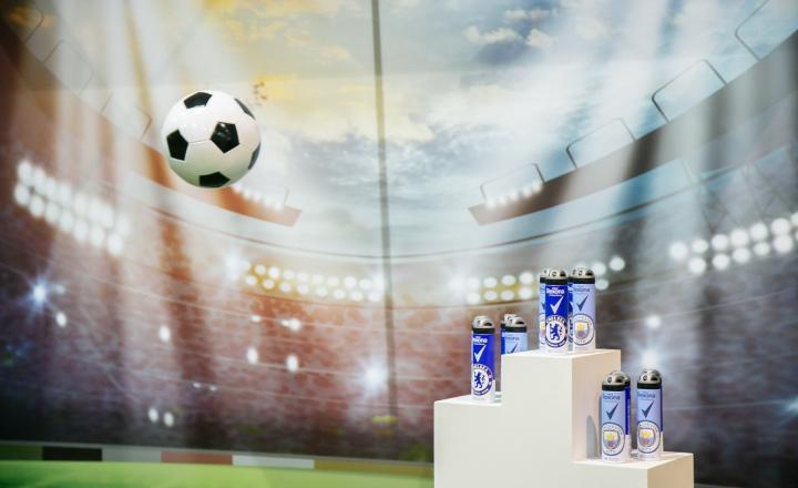 Новый игрок в мужском уходе: футбольная Rexona с логотипами знаменитых английских клубов!