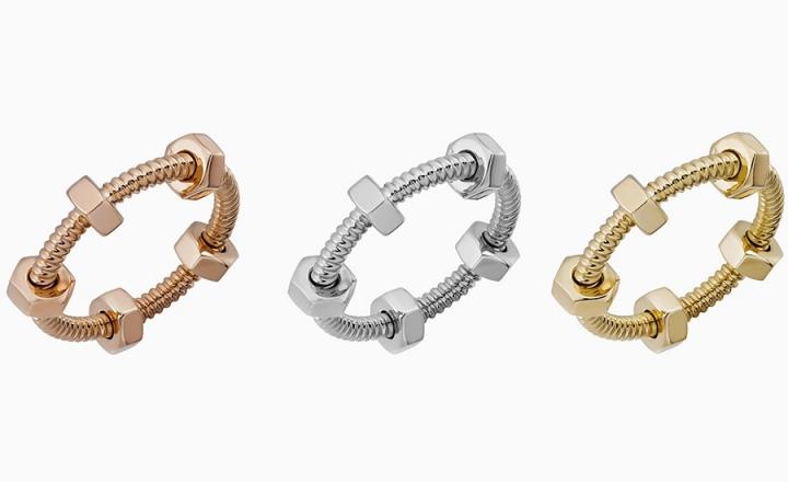 Драгоценные гайки в коллекции колец Écrou de Cartier