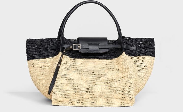 Коллекция летних плетеных сумок Celine