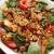 Теплый салат из вешенок с кедровыми орехами